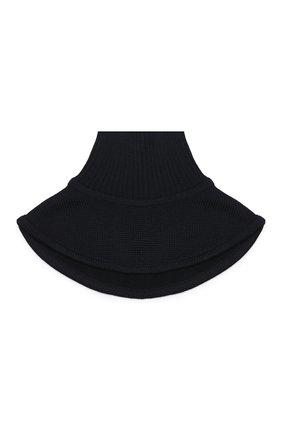 Детский шерстяной шарф-снуд CATYA темно-синего цвета, арт. 923747/1 | Фото 1