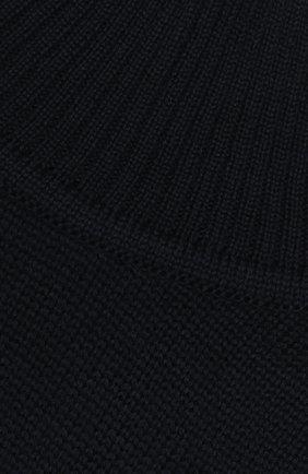 Детский шерстяной шарф-снуд CATYA темно-синего цвета, арт. 923747/1 | Фото 3