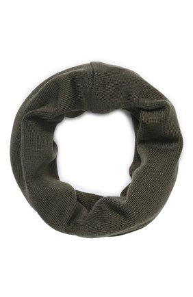 Детский шерстяной шарф-снуд CATYA хаки цвета, арт. 923741/1 | Фото 1