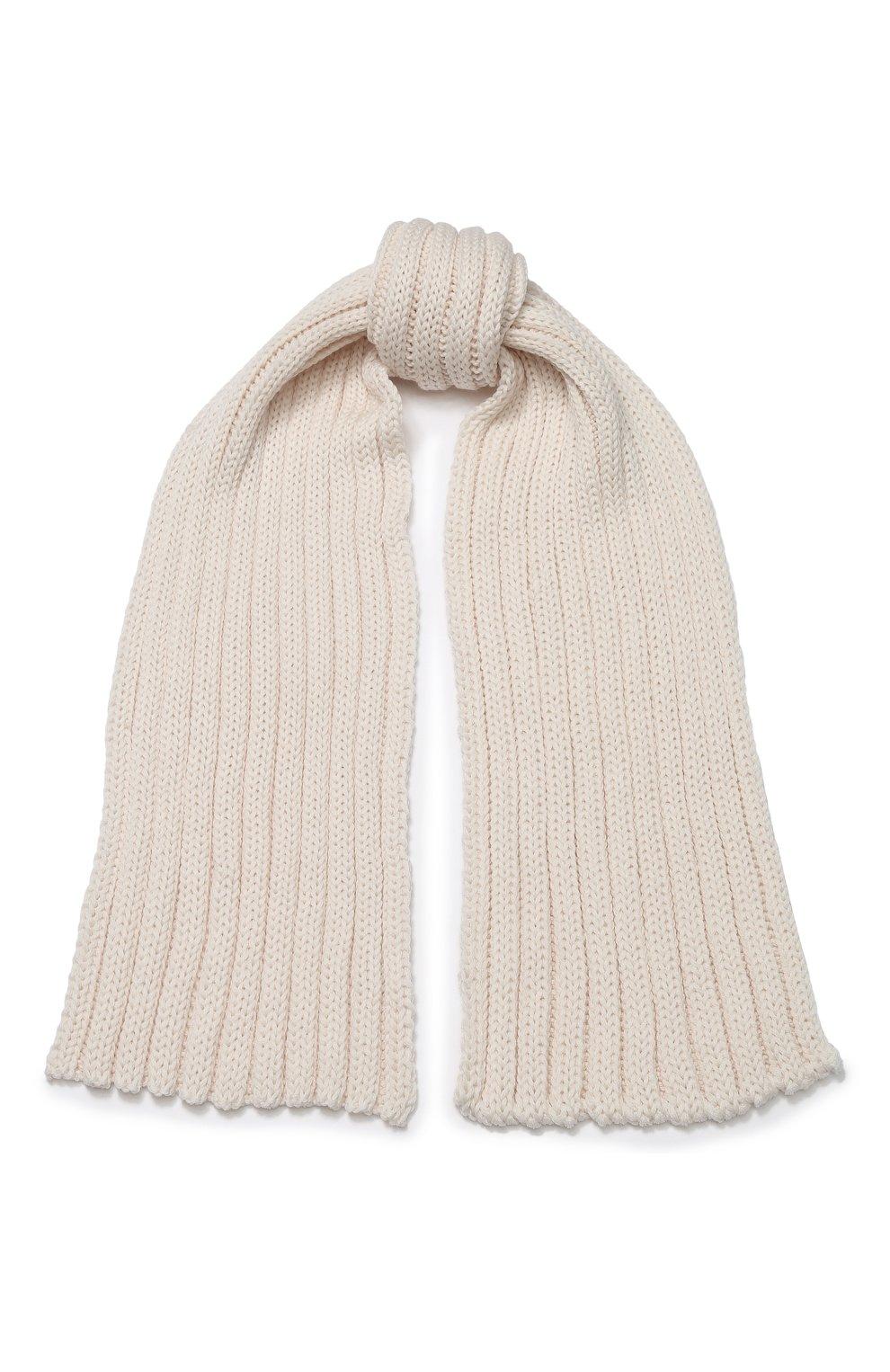 Детский шерстяной шарф CATYA бежевого цвета, арт. 923738 | Фото 1