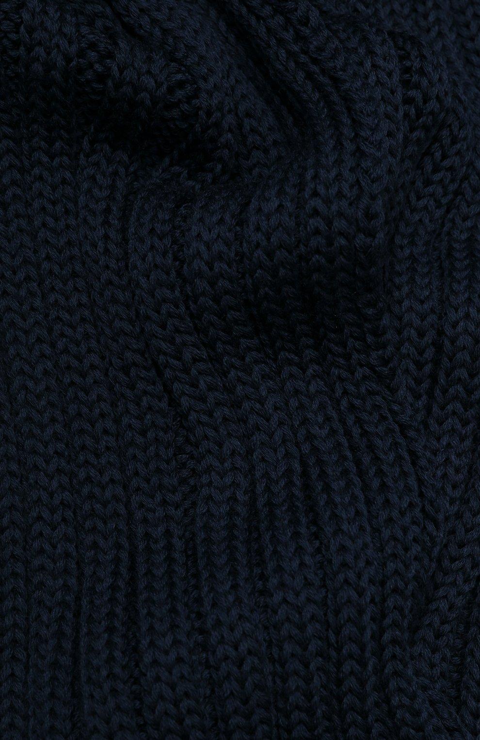 Детский шерстяной шарф CATYA синего цвета, арт. 923738 | Фото 2