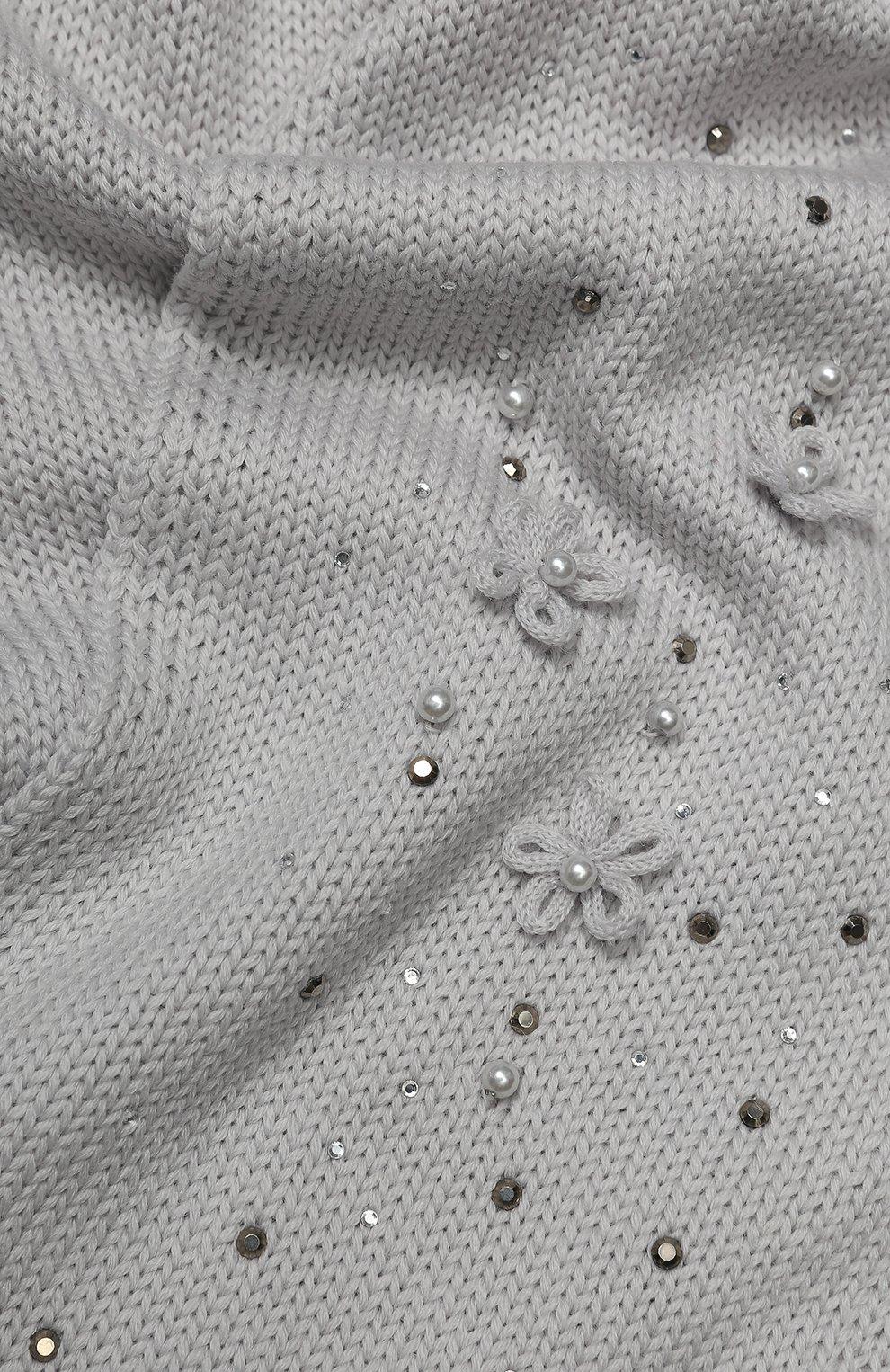 Детский шерстяной шарф CATYA светло-серого цвета, арт. 923733/1 | Фото 2