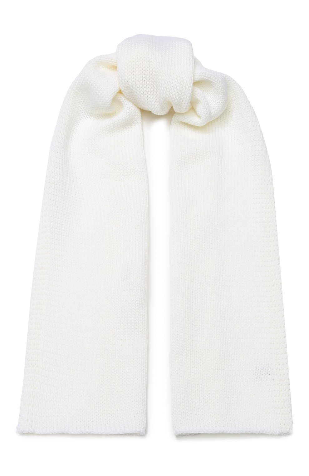 Детский шерстяной шарф CATYA белого цвета, арт. 923730 | Фото 1