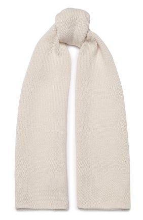 Детский шерстяной шарф CATYA бежевого цвета, арт. 923730 | Фото 1