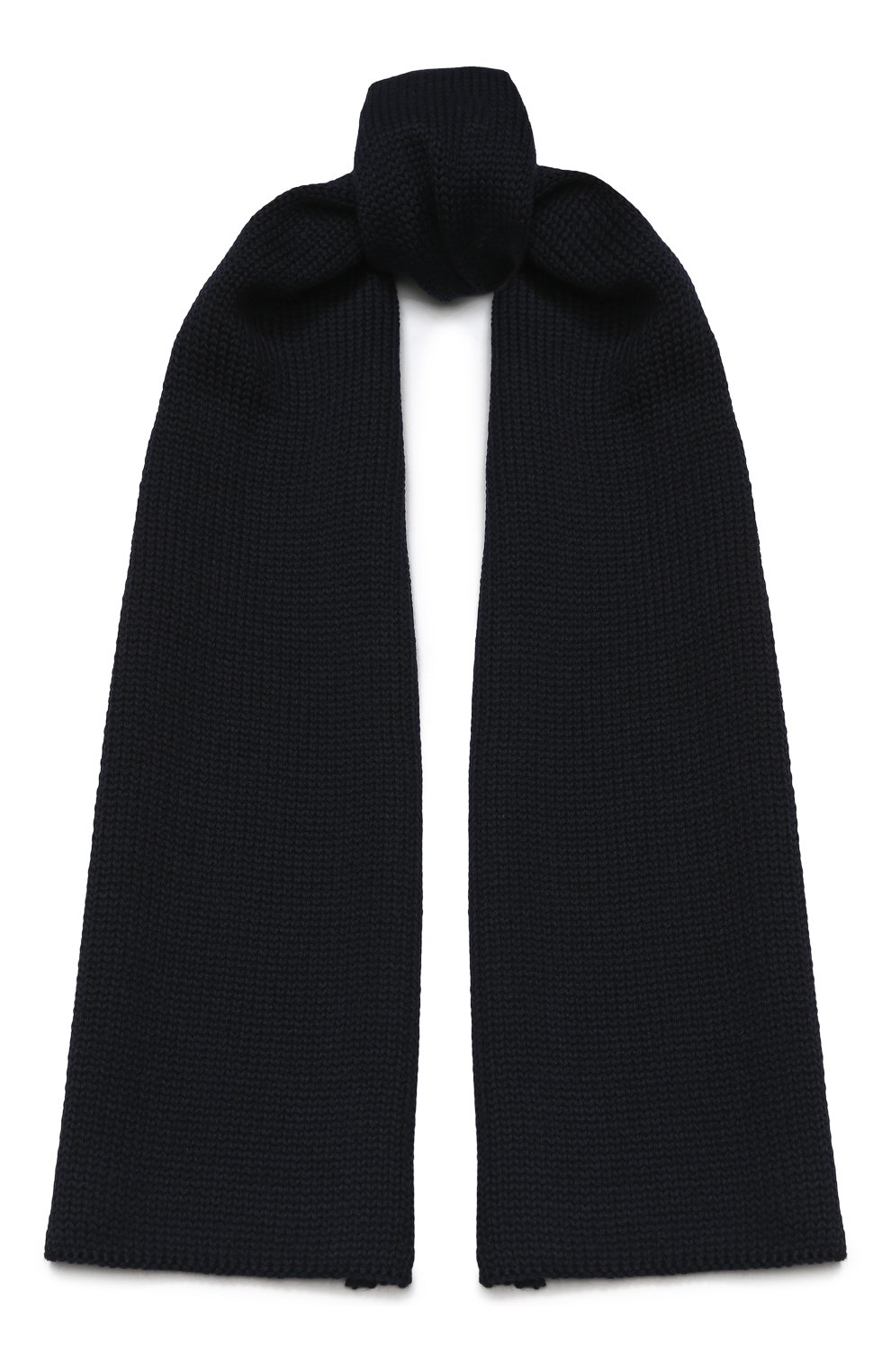 Детский шерстяной шарф CATYA темно-синего цвета, арт. 923730 | Фото 1
