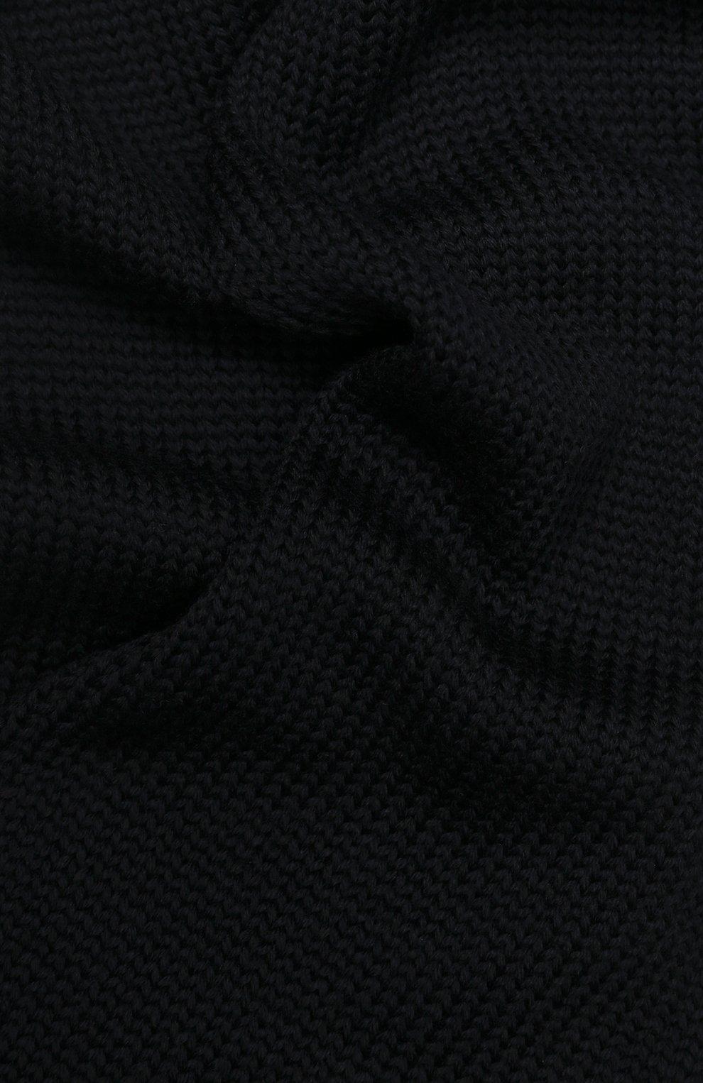 Детский шерстяной шарф CATYA темно-синего цвета, арт. 923730 | Фото 2
