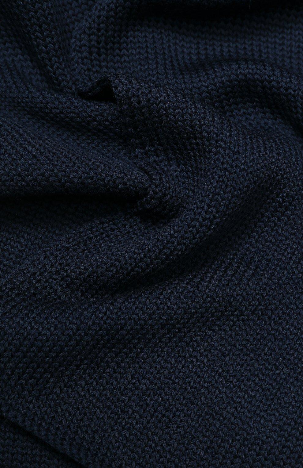 Детский шерстяной шарф CATYA синего цвета, арт. 923730   Фото 2