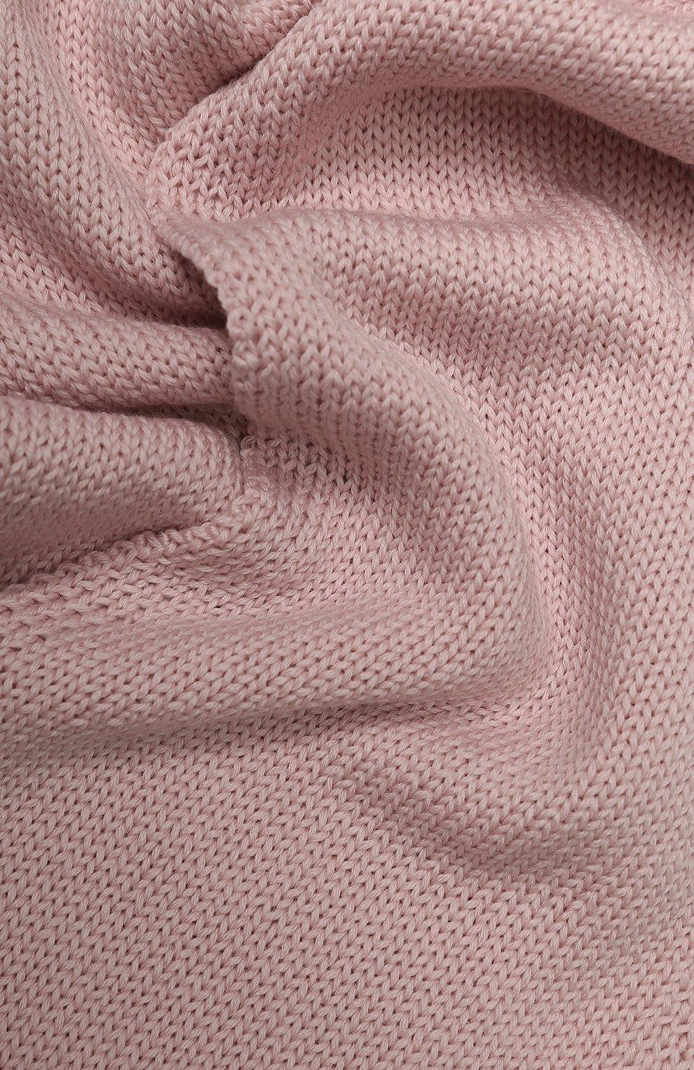 Детский шерстяной шарф CATYA светло-розового цвета, арт. 923730 | Фото 2