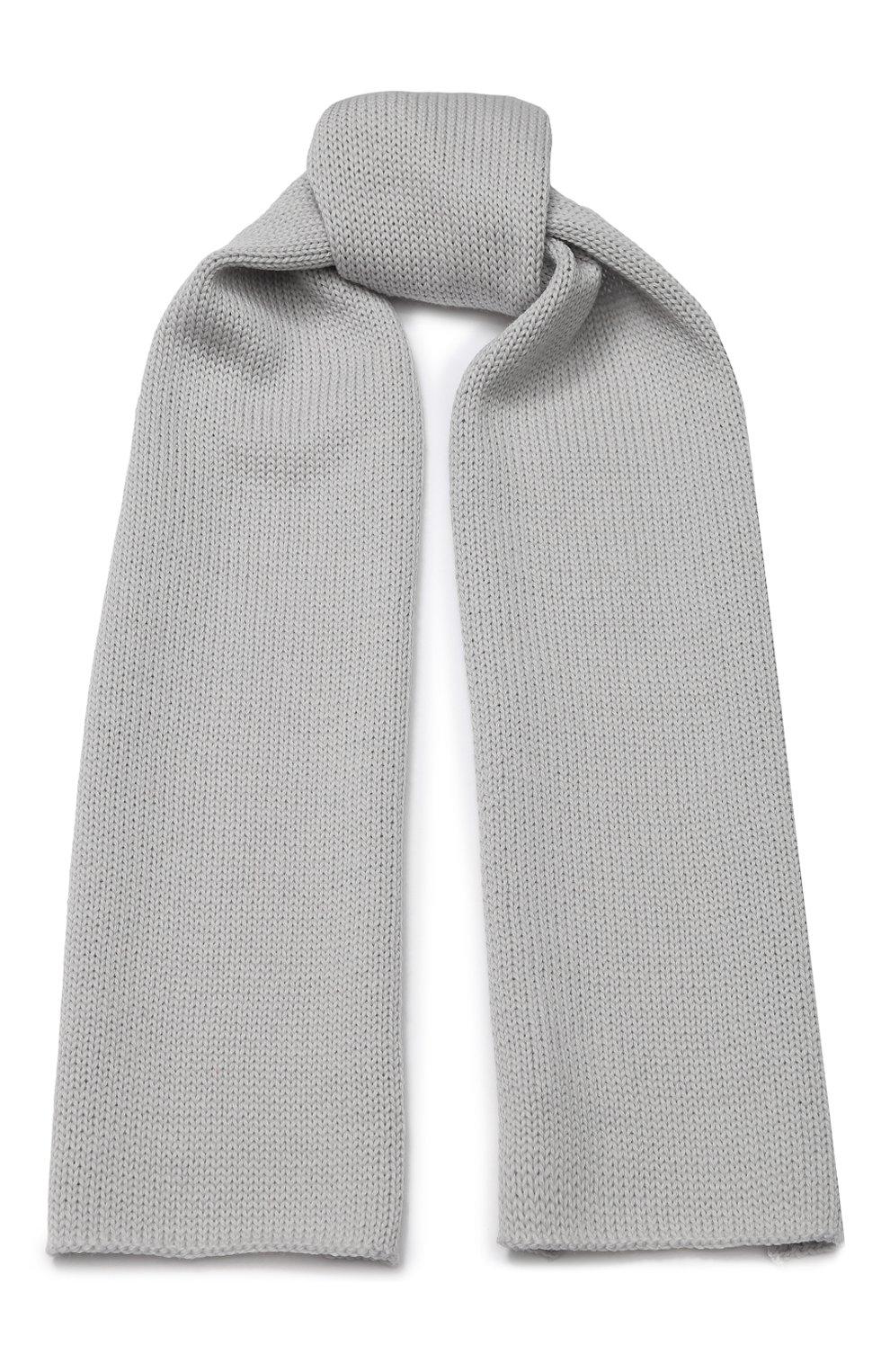 Детский шерстяной шарф CATYA светло-серого цвета, арт. 923730 | Фото 1
