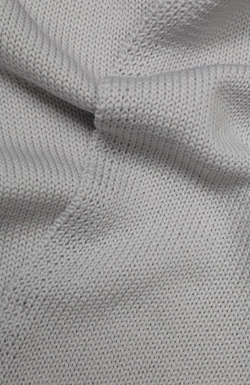 Детский шерстяной шарф CATYA светло-серого цвета, арт. 923730 | Фото 2