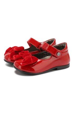 Лаковые туфли с застежкой велькро | Фото №1