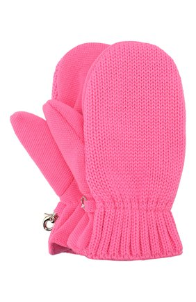 Детские шерстяные варежки IL TRENINO розового цвета, арт. 19 9664/E0   Фото 1