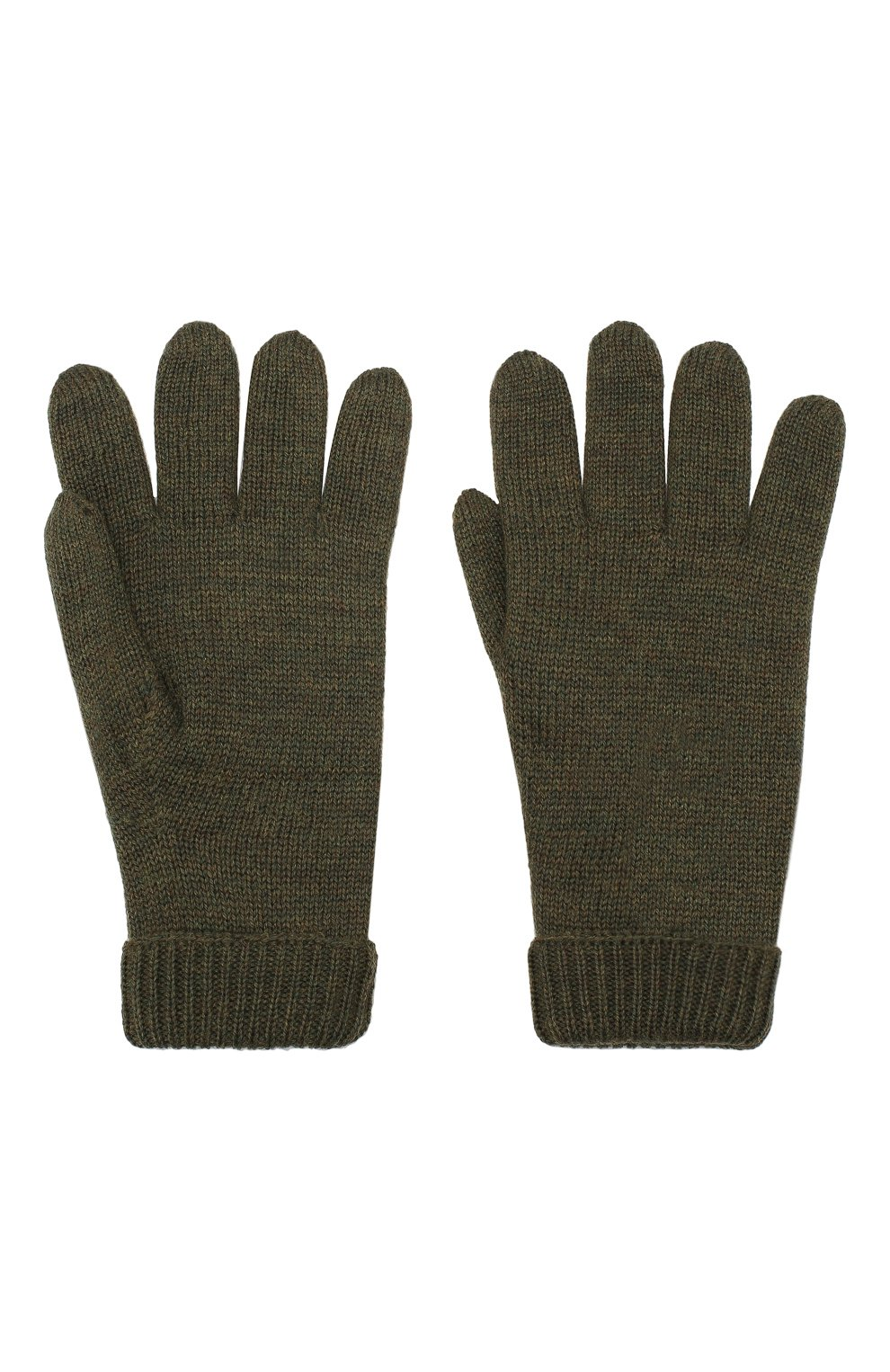 Детские шерстяные перчатки IL TRENINO хаки цвета, арт. 19 9008/E0 | Фото 2
