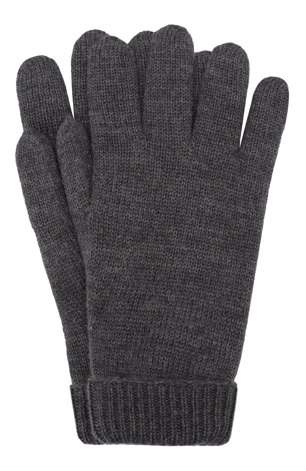 Детские шерстяные перчатки IL TRENINO темно-серого цвета, арт. 19 9008/E0 | Фото 1