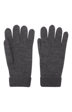Детские шерстяные перчатки IL TRENINO темно-серого цвета, арт. 19 9008/E0 | Фото 2