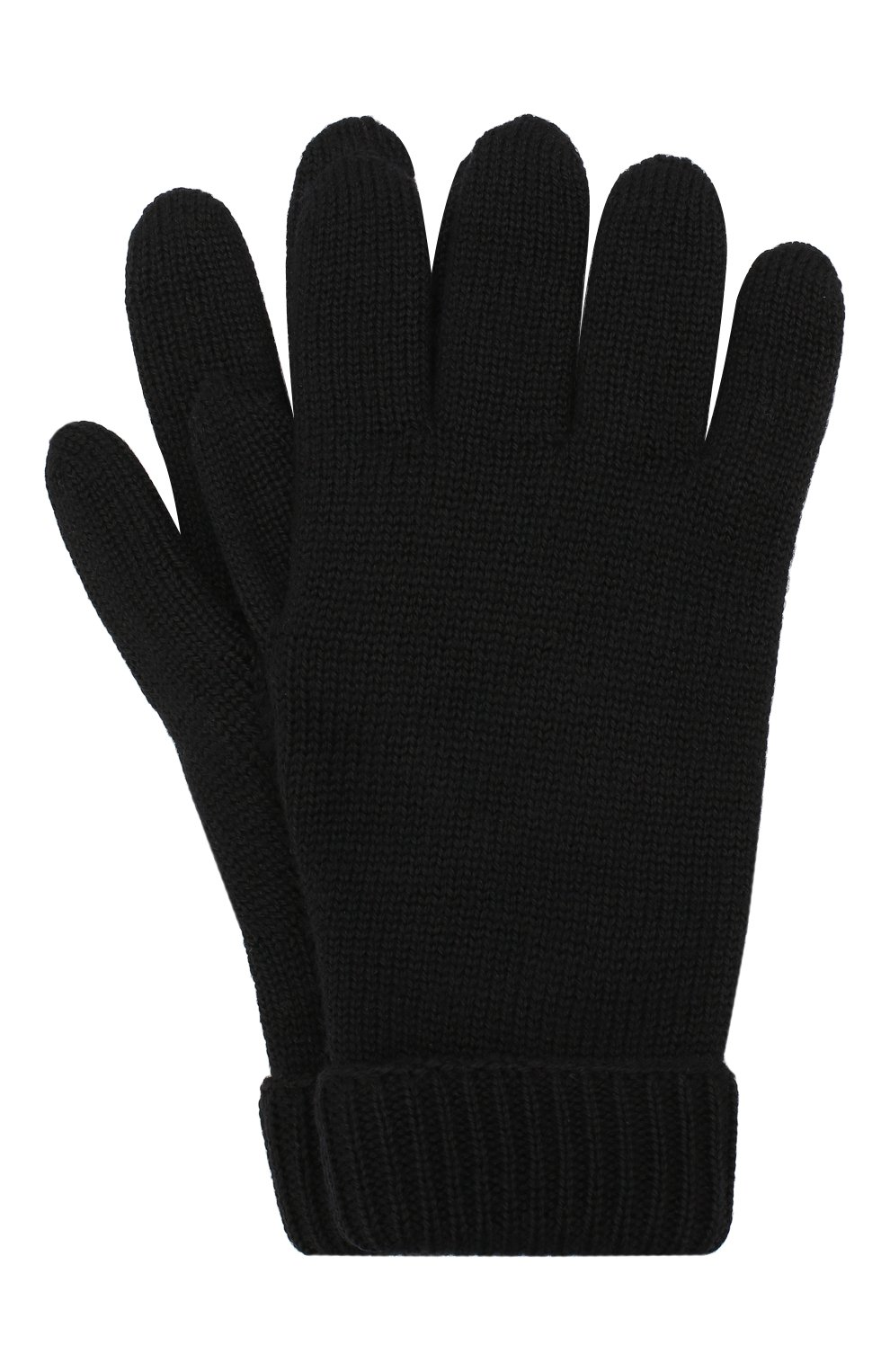 Детские шерстяные перчатки IL TRENINO черного цвета, арт. 19 9008/E0 | Фото 1