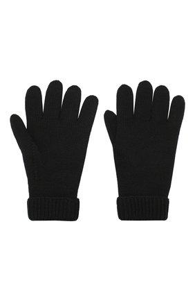 Детские шерстяные перчатки IL TRENINO черного цвета, арт. 19 9008/E0 | Фото 2