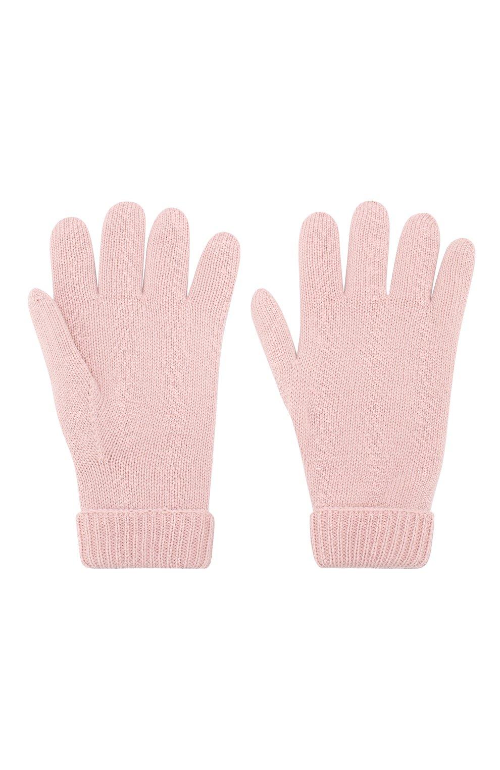 Детские шерстяные перчатки IL TRENINO розового цвета, арт. 19 9008/E0   Фото 2
