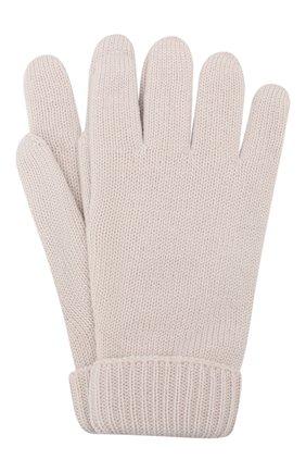 Детские шерстяные перчатки IL TRENINO бежевого цвета, арт. 19 9008/E0 | Фото 1