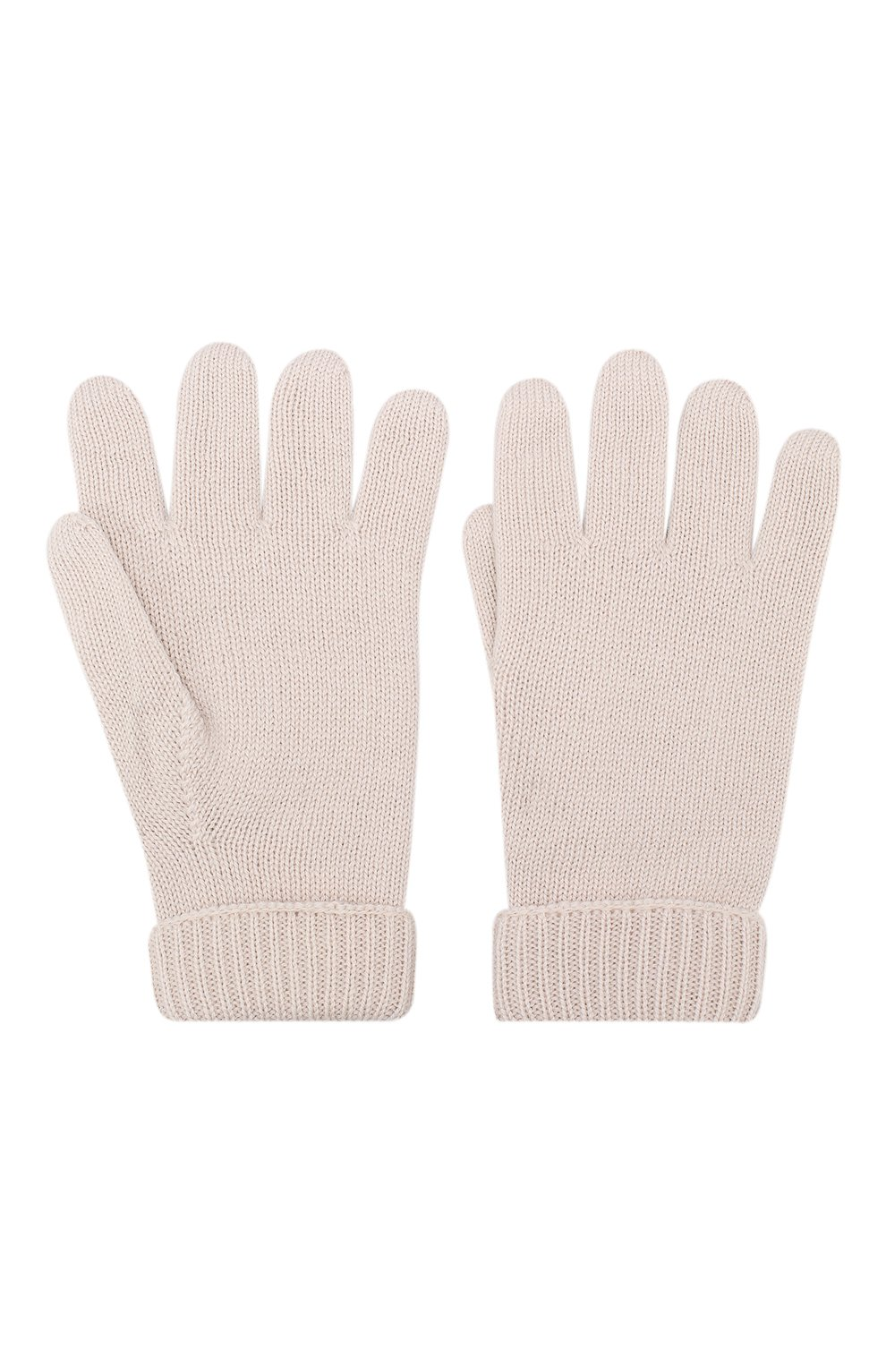 Детские шерстяные перчатки IL TRENINO бежевого цвета, арт. 19 9008/E0 | Фото 2