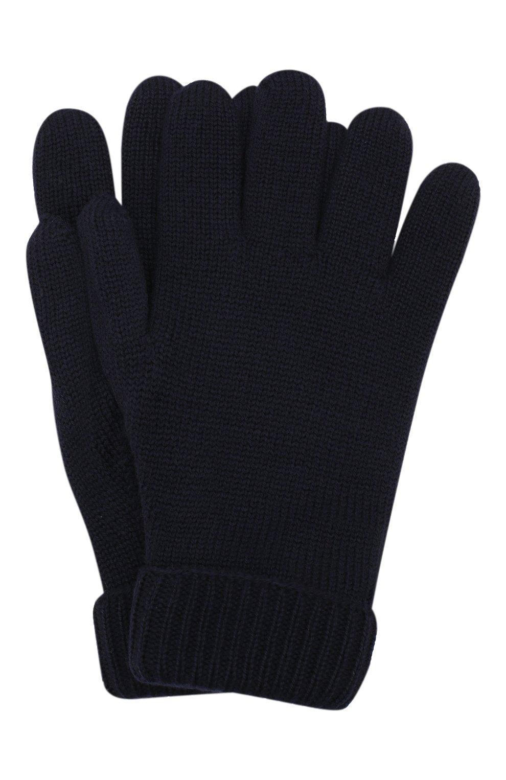 Детские шерстяные перчатки IL TRENINO темно-синего цвета, арт. 19 9008/E0 | Фото 1