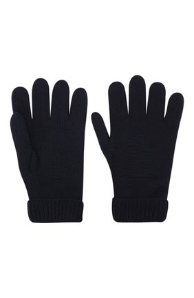 Детские шерстяные перчатки IL TRENINO темно-синего цвета, арт. 19 9008/E0 | Фото 2