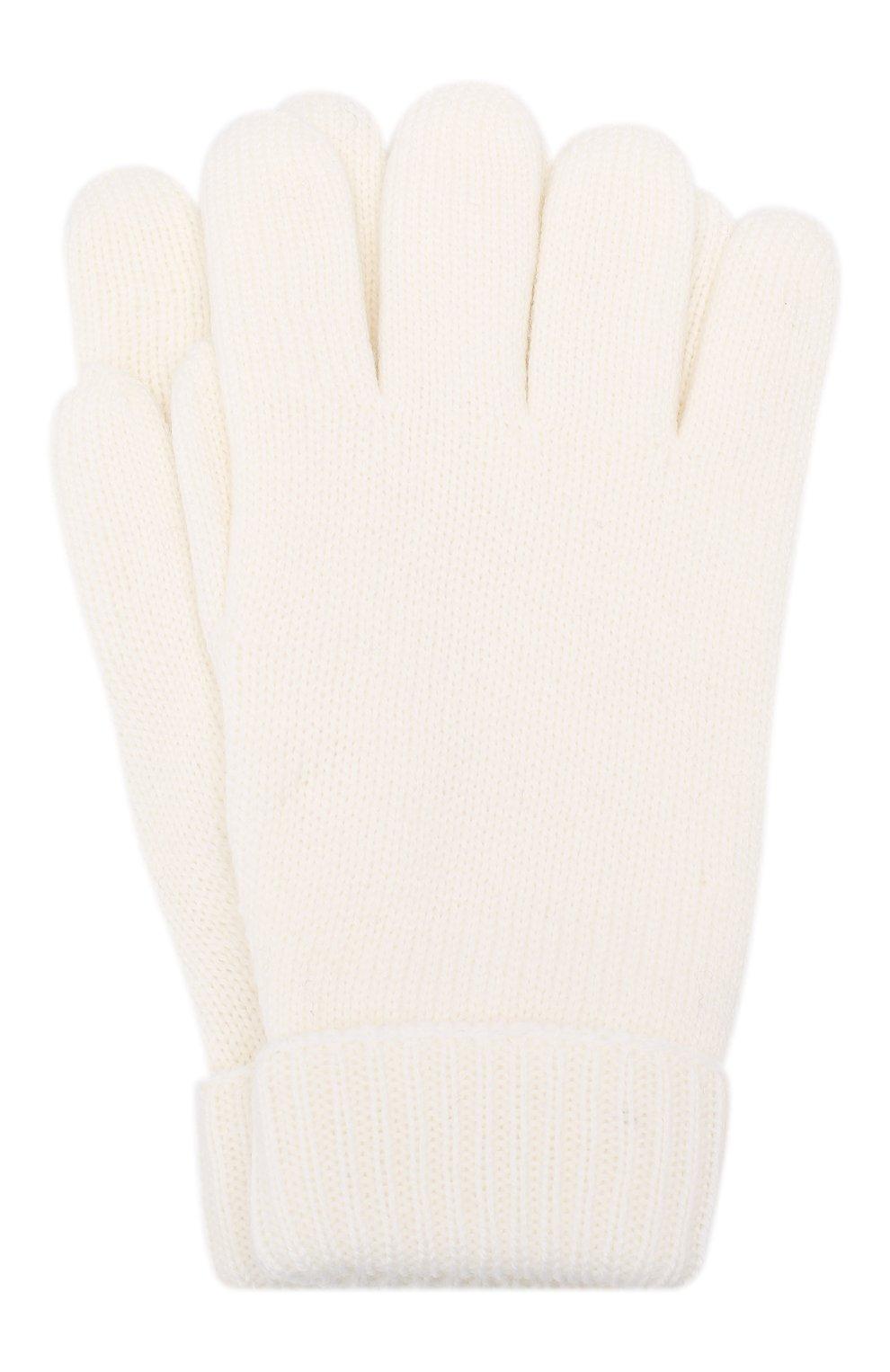 Детские шерстяные перчатки IL TRENINO белого цвета, арт. 19 9008/E0 | Фото 1