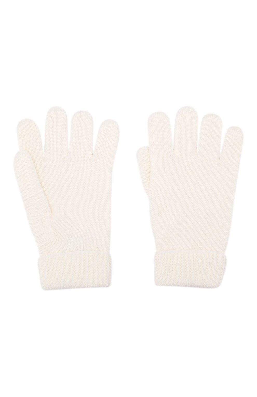 Детские шерстяные перчатки IL TRENINO белого цвета, арт. 19 9008/E0 | Фото 2