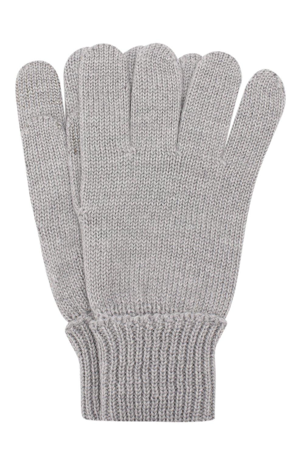 Детские шерстяные перчатки IL TRENINO серого цвета, арт. 19 9004/E0 | Фото 1