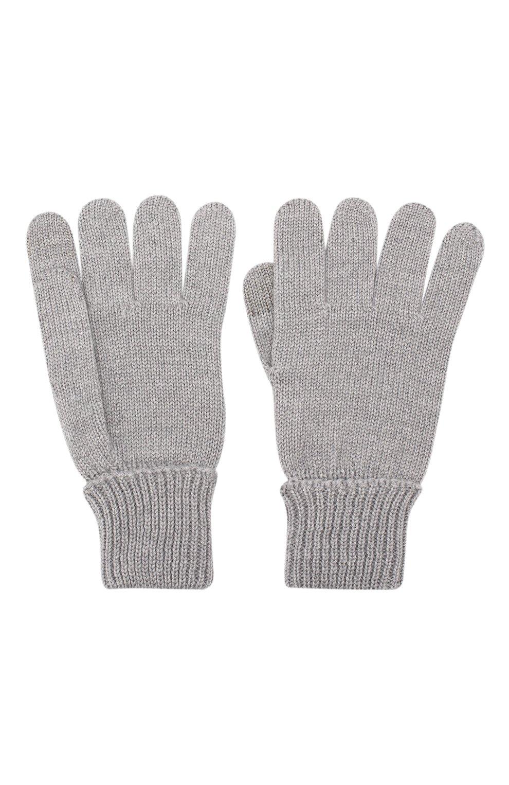 Детские шерстяные перчатки IL TRENINO серого цвета, арт. 19 9004/E0 | Фото 2