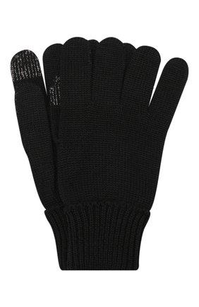 Детские шерстяные перчатки IL TRENINO черного цвета, арт. 19 9004/E0 | Фото 1