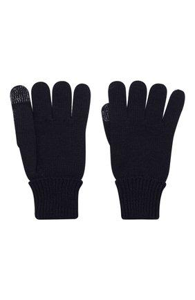 Детские шерстяные перчатки IL TRENINO темно-синего цвета, арт. 19 9004/E0 | Фото 2