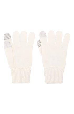 Детские шерстяные перчатки IL TRENINO белого цвета, арт. 19 9004/E0 | Фото 2
