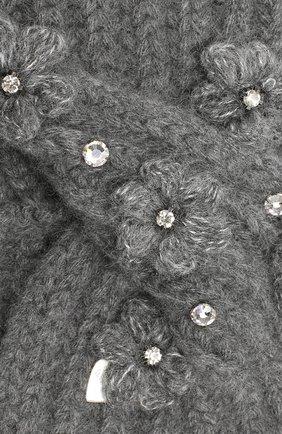 Детская повязка на голову из шерсти и кашемира IL TRENINO темно-серого цвета, арт. 19 6566/E0 | Фото 3