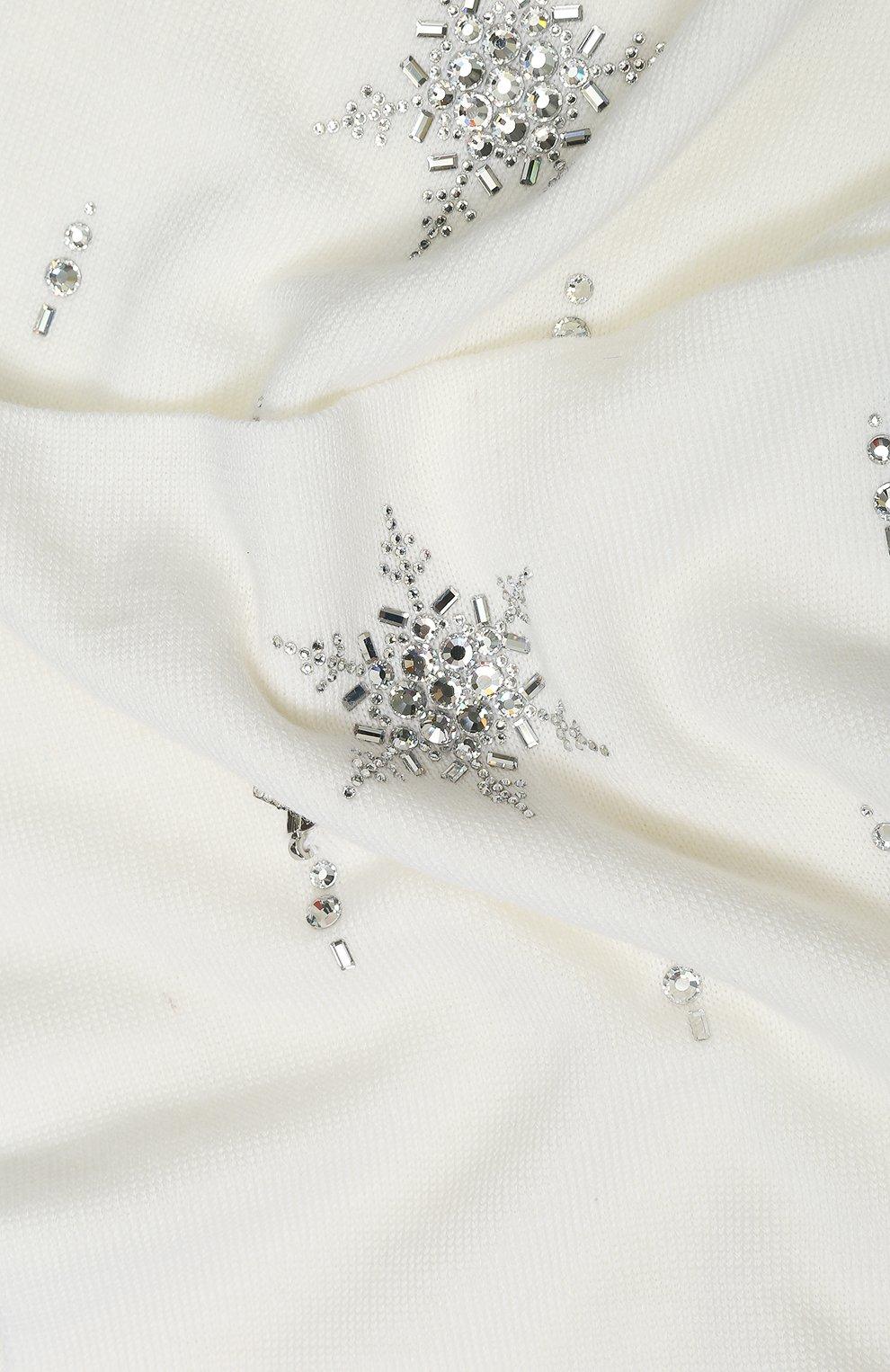 Детский шерстяной шарф IL TRENINO белого цвета, арт. 19 6292/E0 | Фото 2