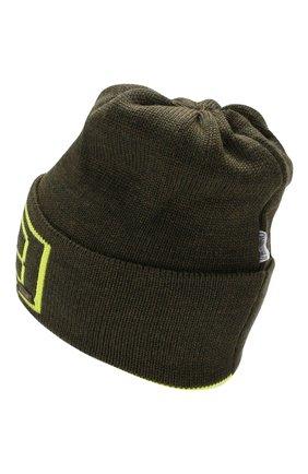 Детского шерстяная шапка IL TRENINO хаки цвета, арт. 19 6210/E0 | Фото 2