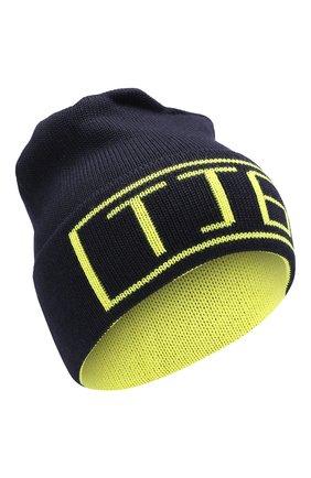 Детского шерстяная шапка IL TRENINO темно-синего цвета, арт. 19 6210/E0 | Фото 1
