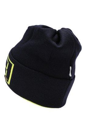 Детского шерстяная шапка IL TRENINO темно-синего цвета, арт. 19 6210/E0 | Фото 2
