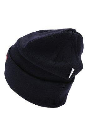 Детского шерстяная шапка IL TRENINO темно-синего цвета, арт. 19 6204/E0 | Фото 2