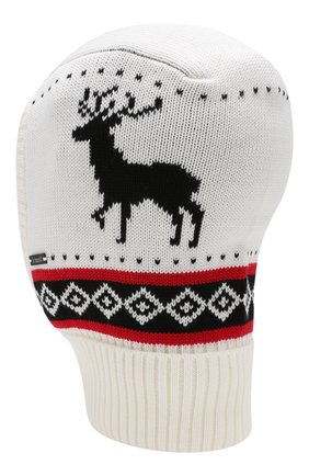 Детского шерстяная шапка IL TRENINO белого цвета, арт. 19 6169/E0 | Фото 2