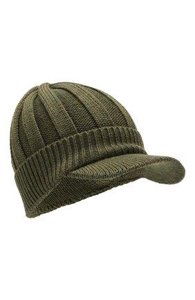 Детского шерстяная шапка IL TRENINO хаки цвета, арт. 19 6157/E0 | Фото 1