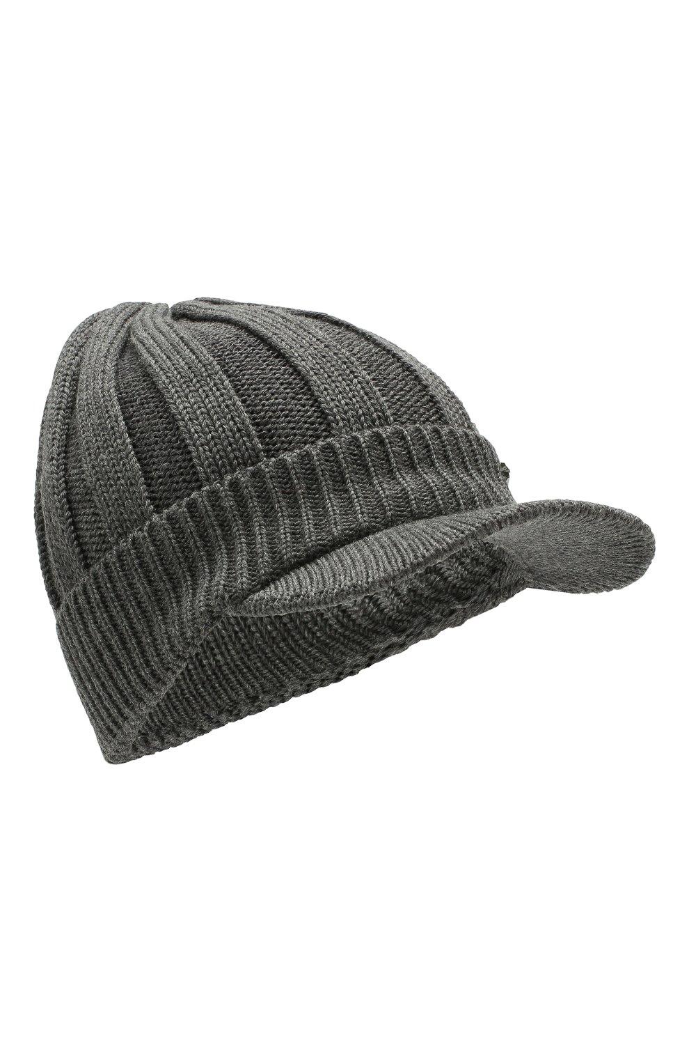 Детского шерстяная шапка IL TRENINO темно-серого цвета, арт. 19 6157/E0 | Фото 1