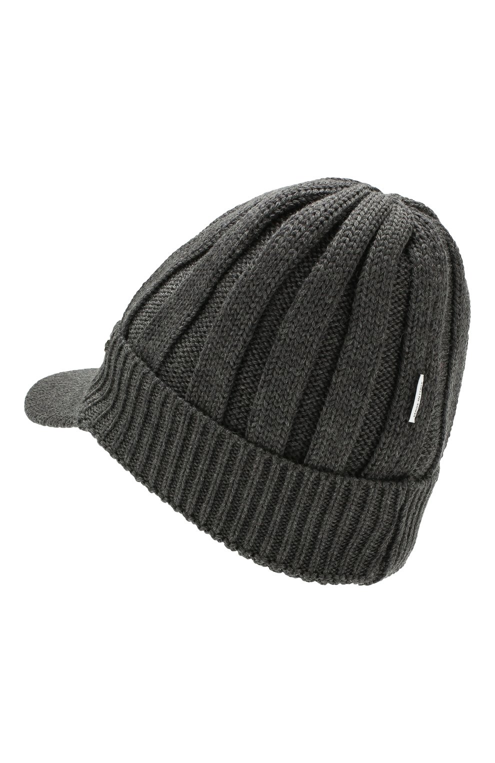 Детского шерстяная шапка IL TRENINO темно-серого цвета, арт. 19 6157/E0 | Фото 2