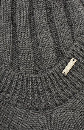 Детского шерстяная шапка IL TRENINO темно-серого цвета, арт. 19 6157/E0 | Фото 3
