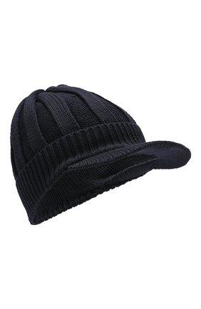 Детского шерстяная шапка IL TRENINO темно-синего цвета, арт. 19 6157/E0 | Фото 1