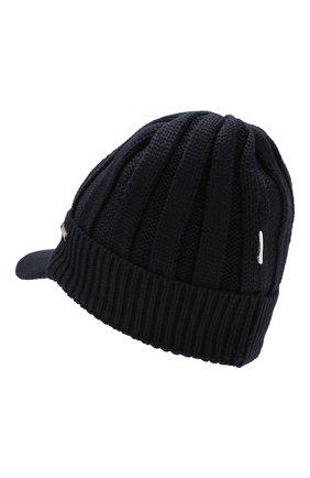 Детского шерстяная шапка IL TRENINO темно-синего цвета, арт. 19 6157/E0 | Фото 2