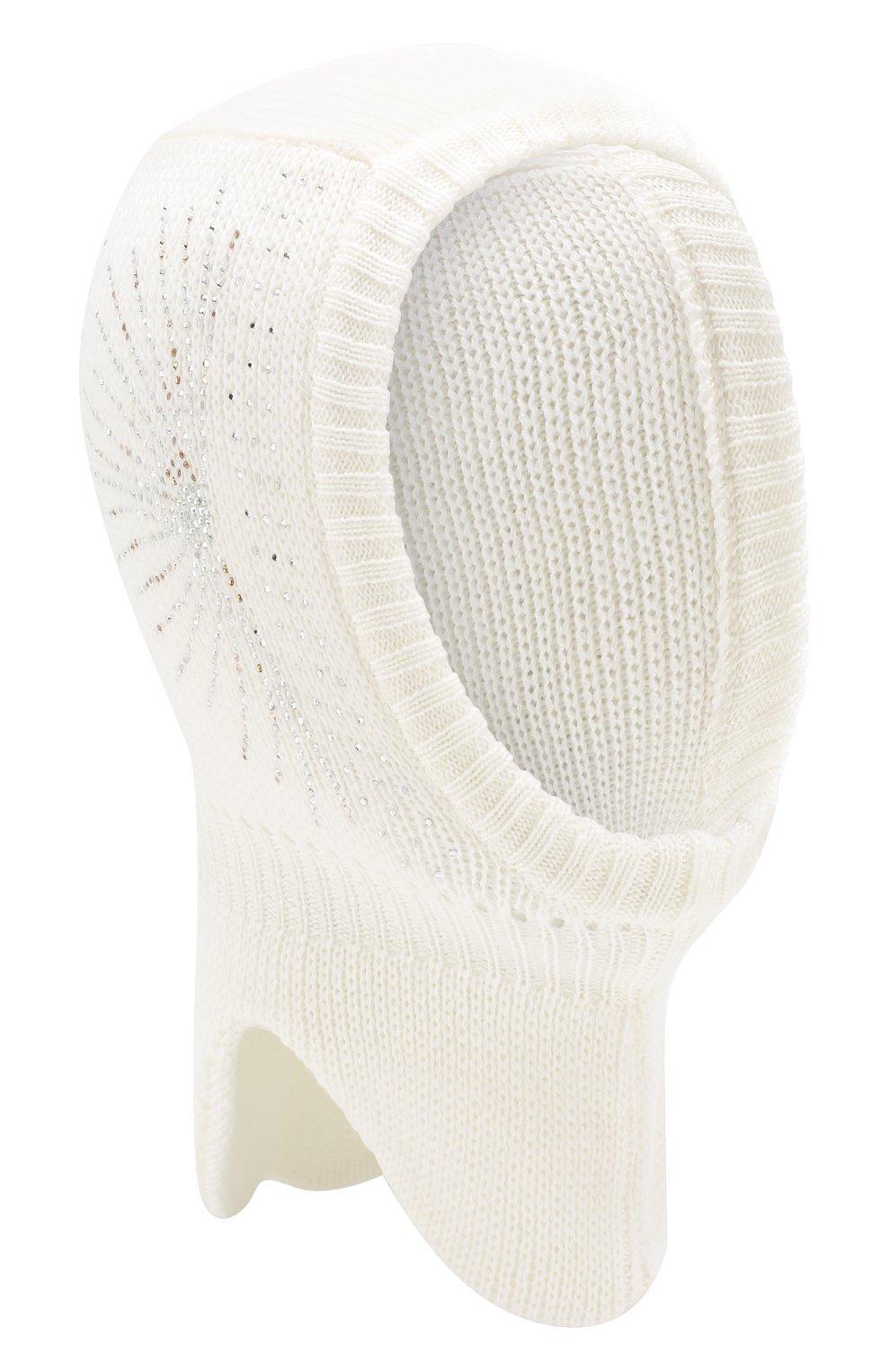 Детского шерстяная шапка-балаклава IL TRENINO белого цвета, арт. 19 6152/E2 | Фото 1