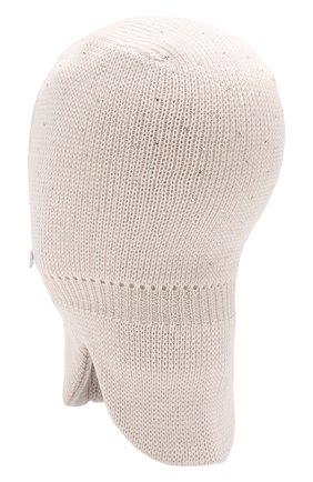 Детского шерстяная шапка-балаклава IL TRENINO бежевого цвета, арт. 19 6039/E2   Фото 2