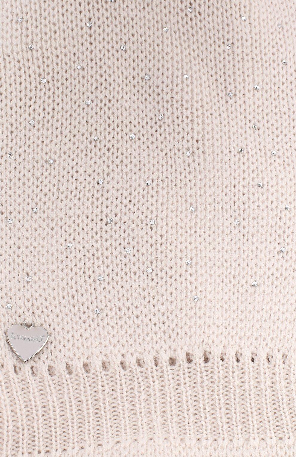 Детского шерстяная шапка-балаклава IL TRENINO бежевого цвета, арт. 19 6039/E2   Фото 3