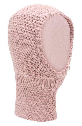 Детского шерстяная шапка-балаклава IL TRENINO розового цвета, арт. 19 5970/E2 | Фото 1